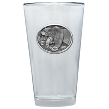 Grizzly Bear Pint Glass Set of 2 | Heritage Pewter | PNT405