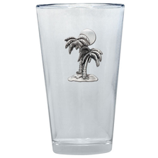 Palm Tree Pint Glass Set of 2 | Heritage Pewter | PNT4216
