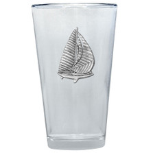 Sailboat Pint Glass Set of 2 | Heritage Pewter | PNT3720