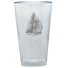 Sailboat Pint Glass Set of 2 | Heritage Pewter | PNT3720