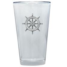 Ship Wheel Pint Glass Set of 2 | Heritage Pewter | PNT4252
