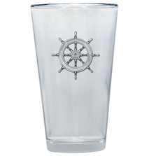Ship Wheel Pint Glass Set of 2 | Heritage Pewter | PNT4252