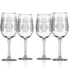 Pineapple White Wine Glass Set of 4 | Rolf Glass | 205427