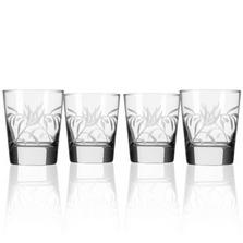 Olive Branch Double Old Fashioned Glass Set of 4 | Rolf Glass | 302003