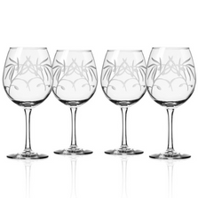 Olive Branch Balloon Wine Glass Set of 4 | Rolf Glass | 302171
