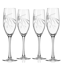 Olive Branch Flute Glass Set of 4 | Rolf Glass | 302454