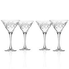 Olive Branch Martini Glass Set of 4 | Rolf Glass | 302133