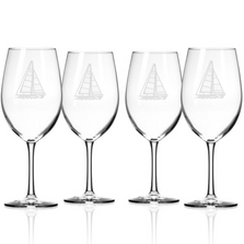 Sailboat AP Large Wine Glass Set of 4 | Rolf Glass | 222264