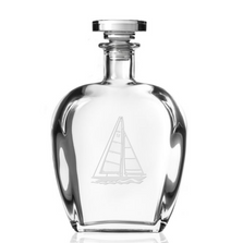 Sailboat Engraved Glass Decanter | Rolf Glass | 222806