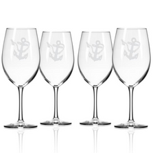 Rope and Anchor AP Large Wine Glass Set of 4 | Rolf Glass | 232262