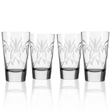 Olive Branch Iced Tea Glass Set of 4 | Rolf Glass | 302010
