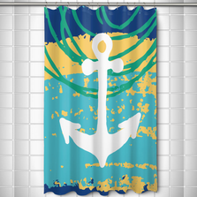 Bimini Anchor Shower Curtain | Island Girl Home | SC148