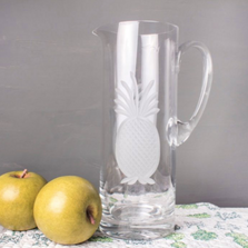 Pineapple Engraved Glass Pitcher | Rolf Glass | 205717