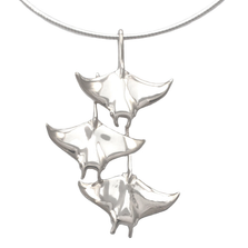 "Manta Ray Trio Pendant Necklace ""Ocean in Motion"" 