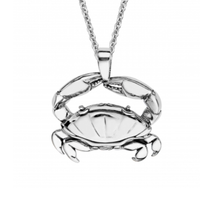 Crab Sterling Silver Pendant Necklace | Nature Jewelry