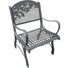 Leaves Cast Iron Chair | Painted Sky | PSPC-ILV