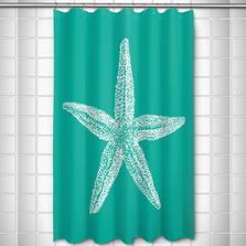 Starfish Shower Curtain Vintage Aqua | Island Girl Home | SC294
