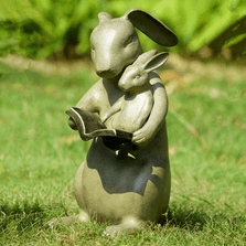 Rabbit Garden Sculpture   Sharing a Story   SPI Home   34773