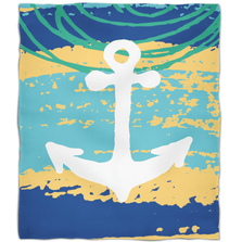 Anchor Fleece Throw Blanket Bimini | Island Girl Home | THR148