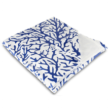 Coral Cobalt Fleece Throw Blanket | Island Girl Home | THR109
