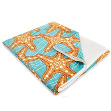 Starfish in Waves Fleece Throw Blanket | Island Girl Home | THR04