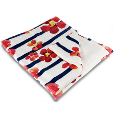Nasturtiums Fleece Throw Blanket | Island Girl Home | THR95