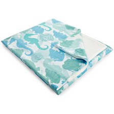 Seahorse Fleece Throw Blanket | Island Girl Home | THR25