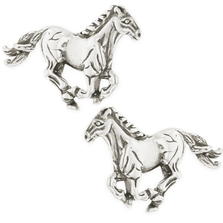 Horse Sterling Silver Post Earrings | Kabana | E654