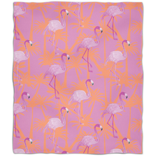 Pink Flamingo Fleece Throw Blanket | Island Girl Home | THR785