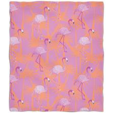 Pink Flamingo Fleece Throw Blanket | Island Girl Home | THR785