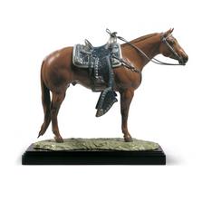 Quarter Horse Porcelain Figurine   Lladro   01001980