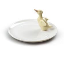 Duck Figurine Porcelain Plate   Lladro   01007841