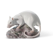 White Rat Porcelain Figurine | Lladro | 01008289