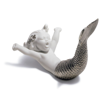 Waking up at Sea Mermaid Porcelain Figurine with Silver Lustre | Lladro | 01008547