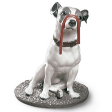 Jack Russel with Licorice Porcelain Dog Figurine | Lladro | 01009192