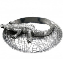 Alligator Chip and Dip Tray | Arthur Court Designs | ACD103342 -2