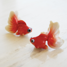 Goldfish Porcelain Salt Pepper Shakers | FZ00669 | Franz Collection