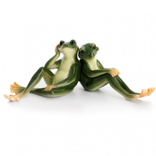 Frog Porcelain Figurine | Frog Lovers | FZ00903 | Franz Collection