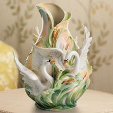 Swan Lake Porcelain Vase | FZ01552 | Franz Collection
