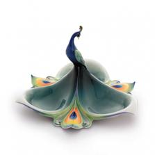 Peacock Splendor Tidbit Dish   FZ01689   Franz Collection