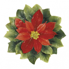Poinsettia Small Porcelain Plate | FZ01987 | Franz Collection