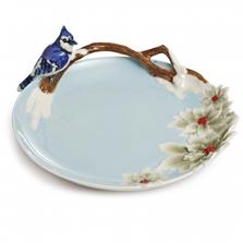 Song Bird Blue Jay Porcelain Plate | FZ02149 | Franz Collection