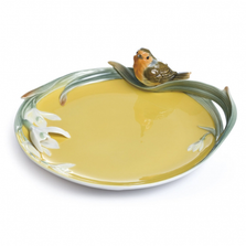 Song Bird Robin Porcelain Plate | FZ02151 | Franz Collection