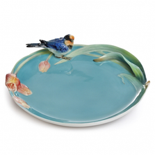 Song Bird Swallow and Tulip Porcelain Plate | FZ02152 | Franz Collection