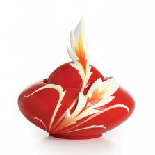 Phoenix in Flight Porcelain Sugar Jar | FZ02383 | Franz Collection