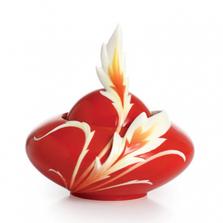 Phoenix in Flight Porcelain Sugar Jar   FZ02383   Franz Collection