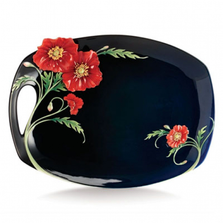 Serenity Poppy Porcelain Tray | FZ02472 | Franz Collection