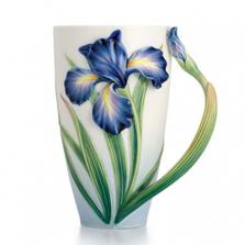 Eloquent Iris Porcelain Mug   FZ02478   Franz Collection