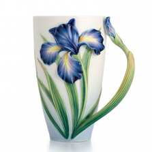 Eloquent Iris Porcelain Mug | FZ02478 | Franz Collection