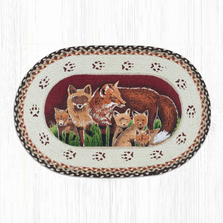 Fox Family Oval Braided Rug | Capitol Earth Rugs | OP-129FOX